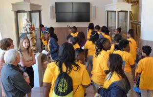 Children enjoyed seeing the displays. (Donna Cope/Alabama NewsCenter)