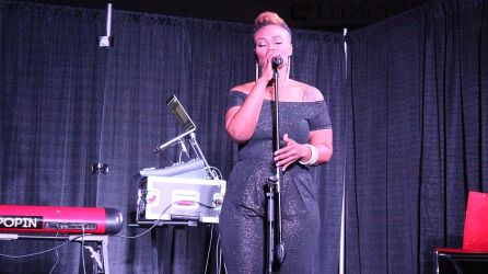 Singer Nadia Tellis at the Fusion awards. (Brittany Faush-Johnson/Alabama NewsCenter)