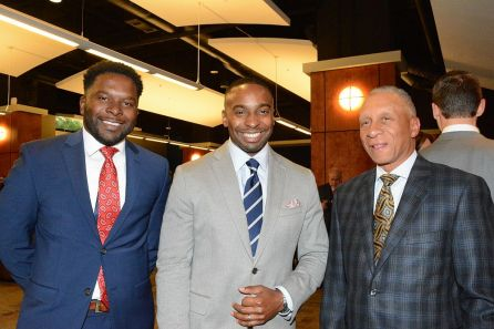 Award nominee Waymon Jackson (center) at the Fusion awards. (Brittany Faush-Johnson/Alabama NewsCenter)