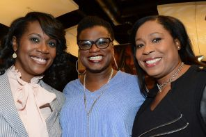 Energizer award winner Jarralynne Agee (center) at the Fusion awards. (Brittany Faush-Johnson/Alabama NewsCenter)