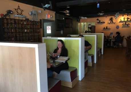 The décor may attract a lot of first-time visitors to Toybox Bistro in Huntsville, but the food keeps them coming back. (Brittany Faush-Johnson/Alabama NewsCenter)
