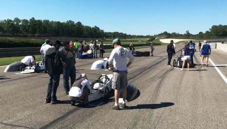 Participants from across Alabama and Georgia brought electric cars to compete in this week's Electrathon race. (Alabama NewsCenter)
