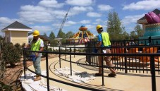 Work continues to have OWA ready for a mid-summer opening. (Robert DeWitt / Alabama NewsCenter)