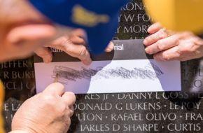 The wall records 58,000 names of the fallen. (Simo Ahmadi/Alabama NewsCenter)