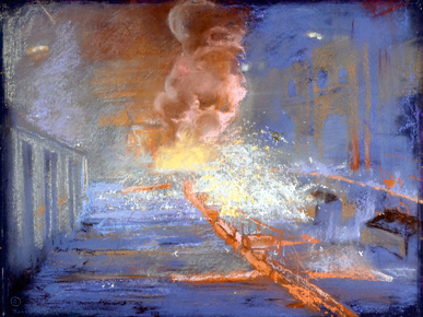 Roderick Dempster MacKenzie, English, 1865-1941. Burst of Gas and Sparks, ca. 1925. Birmingham Museum of Art; gift of Mrs. J.D. Southall, Robert McK. Southall, John C. Southall, Roderick D. Southall. Photograph by M. Sean Pathasema. (From Encyclopedia of Alabama, Courtesy of Birmingham Museum of Art)