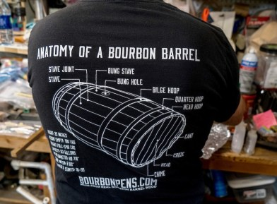 Fans of bourbon enjoy having a pen made from one of their favorite distillery's barrels. (Mark Sandlin/Alabama NewsCenter)