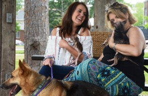 "Heather Wyatt and Dee Tipps are two of the ""foster moms"" who enable Two by Two Rescue to save hundreds of animals every year. (Karim Shamsi-Basha/Alabama NewsCenter)"