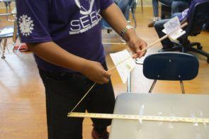 Students learn basics of the engineering profession through hands-on lessons. (Karim Shamsi-Basha/Alabama NewsCenter)