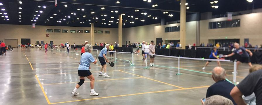 Athletes compete in the 2017 National Senior Games, going on through next week in Birmingham. (Nicole Hedrick/Alabama NewsCenter)