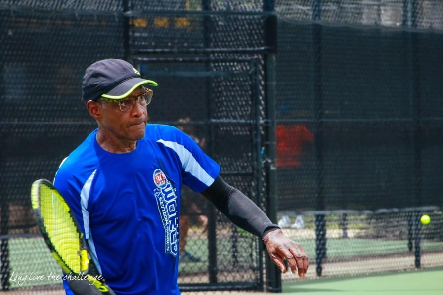 Tennis is one of the many sports at the 2017 National Senior Games in Birmingham. (Andria Chieffo)