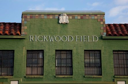 Rickwood Field, 2010, located in Birmingham, AL, is the oldest surviving professional baseball park in the United States. It was built for the Birmingham Barons in 1910 by industrialist and team-owner Rick Woodward and has served as the home park for the Birmingham Barons and the Birmingham Black Barons of the Negro Leagues. Rickwood Field is listed on the National Register of Historic Places. (The George F. Landegger Collection of Alabama Photographs in Carol M. Highsmith's America, Library of Congress, Prints and Photographs Division)