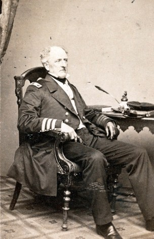 Admiral Franklin Buchanan of the Confederate Navy in uniform. (Brady's National Portrait Gallery, Library of Congress Prints and Photographs Division)