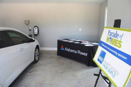 Technologies such as electric vehicle charging stations are among the innovations in the All-Electric Ideal Home at the Greater Montgomery Home Builders Parade of Homes. (Karim Shamsi-Basha / Alabama NewsCenter)
