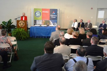 Alabama Gov. Kay Ivey speaks during the ceremony at Bevill State Community College. (Karim Shamsi-Basha / Alabama NewsCenter)