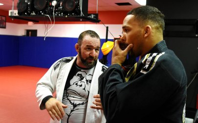Coach Chris Conolley and Eryk Anders train at Spartan Fitness in Homewood. (Solomon Crenshaw Jr. / Alabama NewsCenter)