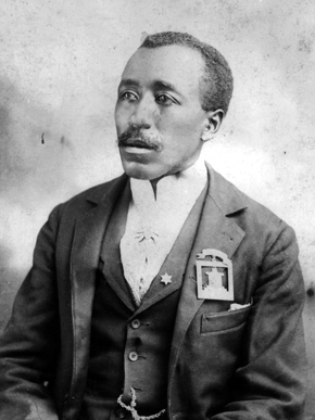 Abraham Calvin Caffey, c. 1894. He led the Capital City Guards based in Montgomery and was a Sunday-school superintendent and active Mason. (Photograph of Abraham Calvin Caffey by H.P. Tresslar, courtesy of Beth Taylor Muskat through the Encyclopedia of Alabama)