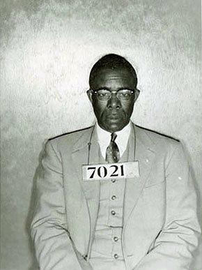 E.D. Nixon (1899-1987) was a civil rights leader in Montgomery during the 1960s who worked to get African-Americans registered to vote and was an organizer of the Montgomery Improvement Association and the Montgomery bus boycott. Nixon was one of more than 80 leaders of the boycott arrested by Montgomery police in February 1956. (From Encyclopedia of Alabama, Courtesy of Montgomery County)