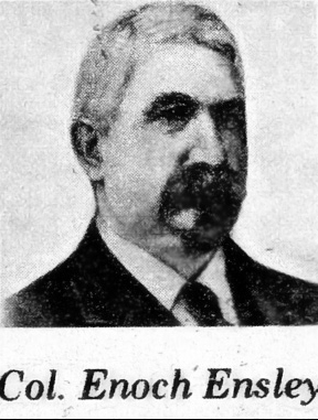 "Enoch Ensley (1832-1891) was a leading industrialist during development of the ""Birmingham District"" in Jefferson County during the late nineteenth century. The town of Ensley near Birmingham is named in his honor. (From Encyclopedia of Alabama, Courtesy of Birmingham Public Library Archives)"
