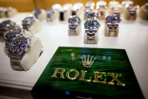 Rolex Group remains a popular brand to name-drop in songs. (Michael Nagle/Bloomberg)