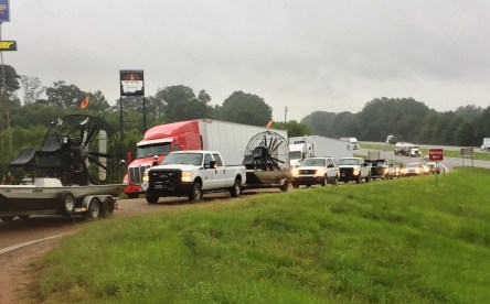 Alabama Power special equipment and crews are on the way to Houston to assist with Hurricane Harvey power restoration efforts. (Alabama Power)