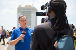 The eclipse was a major media event in Birmingham and other parts of the state and nation. (Phil Free / Alabama NewsCenter)