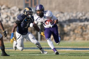 Receiver Dre Hall is an offensive weapon for UNA this year. (Mason Matthews/UNA Athletics)