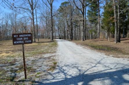 Entering Key Underwood Coon Dog Memorial Park. (Anne Kristoff / Alabama NewsCenter)