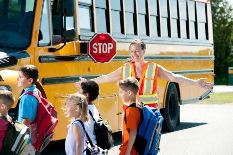 Always obey signs, signals and crossing guards in school zones. (Getty Images)
