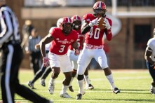 JSU's all-conference Defensive Player of the Year from 2016 Darius Jackson (40), is back this year. (Matt Reynolds / JSU Athletics)