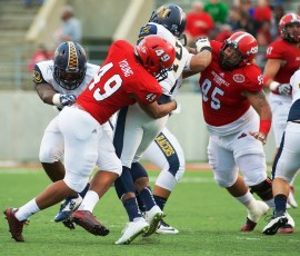 JSU cornerback Monty Young (49) is one of the standouts on the Gamecocks defense. (Steve Latham / JSU Athletics)
