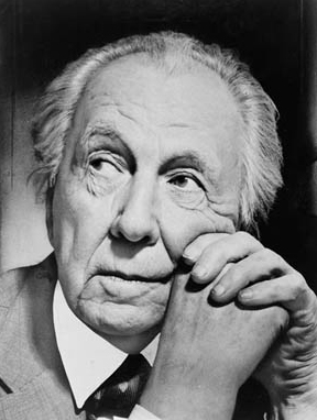 Frank Lloyd Wright (1867-1959) is America's most celebrated architect. His designs ranged from massive urban projects, such as the Guggenheim Museum in New York City and the Imperial Hotel in Tokyo, to single-family dwellings, such as the Rosenbaum House in north Alabama. (From Encyclopedia of Alabama, Courtesy of Library of Congress)