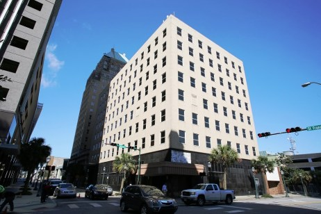 Hand Arendall will occupy three floors of the eight-story building next to the former Merchants National Bank building. (Mike Kittrell/Alabama NewsCenter)