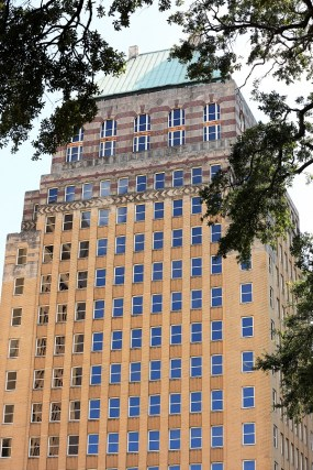 Some of downtown Mobile's oldest and most beautiful structures are being restored for new uses, including the old Merchants National Bank building, soon to become part of the multi-use Merchants Plaza. (Mike Kittrell/Alabama NewsCenter)