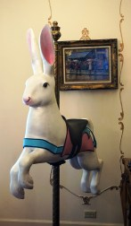 Pappas also carves carousel animals, which brighten his home's living and dining rooms. (Erin Harney/Alabama NewsCenter)