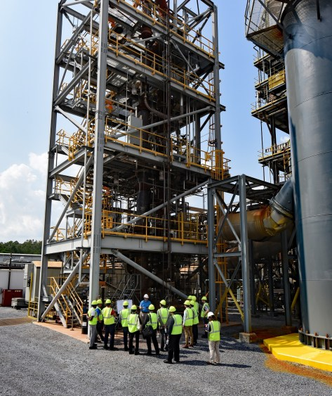 During the two-hour tour, IEAGHG guests explored the National Carbon Capture Center's gasification and pre-combustion projects. (Wynter Byrd / Alabama NewsCenter)