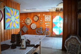 The view of Garland Farwell's gallery from his studio. (Anne Kristoff/Alabama NewsCenter)