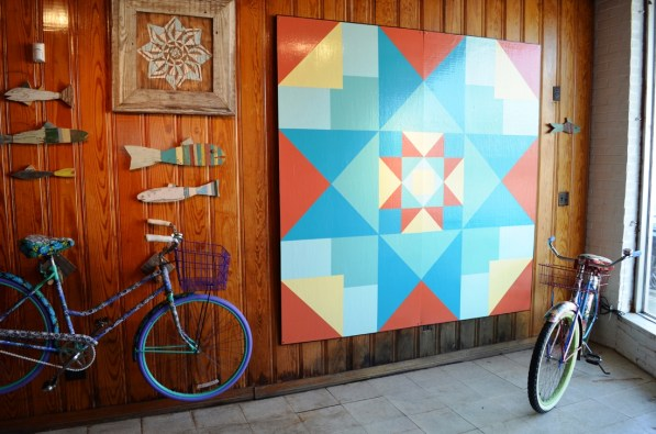One of Farwell's quilt squares. (Anne Kristoff/Alabama NewsCenter)