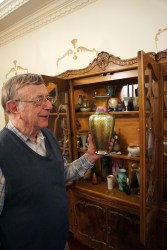 Pappas says his first proper collection was the art glass he and his wife, Patti, began buying more than 50 years ago. (Erin Harney/Alabama NewsCenter)