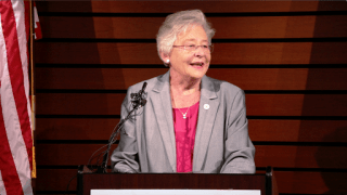 Alabama Gov. Kay Ivey speaks at the Autocar announcement. (Bruce Nix / Alabama NewsCenter)