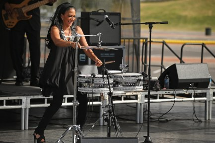 Sheila E. will perform at the Alys Stephens Center September 15. (Getty Images)