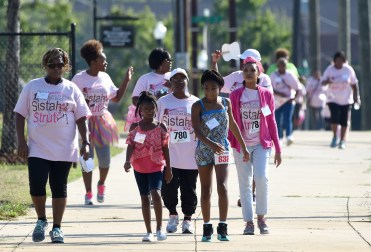 Participants walk during the Brenda's Brown Bosom Buddies Fifth Annual Sistah Strut at Legion Field in Birmingham last year. (Photo by Mark Almond)