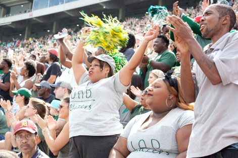UAB football returned with great fanfare to Legion Field with record attendance and new offerings for fans. (Aaron Grayson/ Alabama NewsCenter)