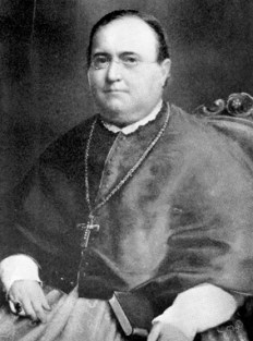 Michael Portier (1795-1859) was the first bishop of the Diocese of Mobile and played key roles in the founding of Spring Hill College and the construction of the Cathedral of the Immaculate Conception. (From Encyclopedia of Alabama, Courtesy of Spring Hill College Archives)
