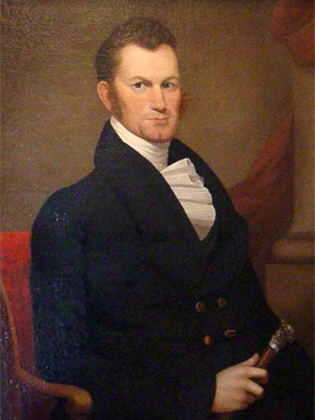 Thomas Bibb (ca. 1783-1838) was Alabama's governor from 1820-21, taking office when his brother, William Wyatt Bibb, died mid-term. While influential in financial and political sectors, he struggled with reapportionment and a faltering economy during his governorship. (From Encyclopedia of Alabama, Courtesy of Alabama Department of Archives and History)