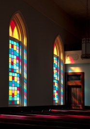 Dexter Avenue King Memorial Baptist Church & Parsonage in Montgomery, 2005. (The George F. Landegger Collection of Alabama Photographs in Carol M. Highsmith's America, Library of Congress, Prints and Photographs Division)