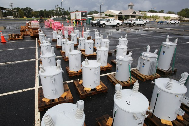 Alabama Power's staging area for Hurricane Nate at The Grounds in Mobile. (Mike Kittrell/Alabama NewsCenter)