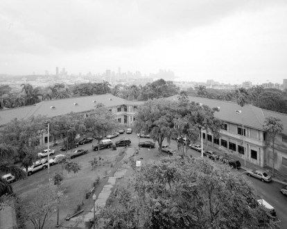 Gorgas Hospital, named for William Crawford Gorgas, in the former Panama Canal Zone. Panama City is visible in the background. (Richard Bryant, Library of Congress Prints and Photographs Division)
