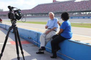 Ward, a racing fan and driver, talks to Alabama NewsCenter's Keisa Sharpe and recounts how he competed on this track in the early years. (Dennis Washington/Alabama NewsCenter)
