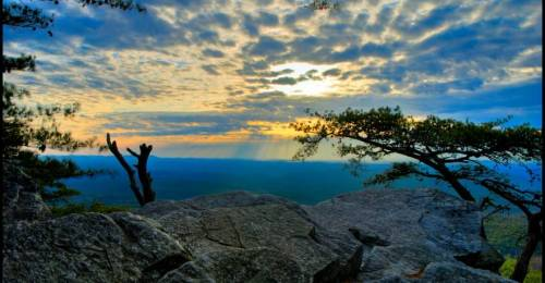 Pulpit Rock on Mount Cheaha. (Alabama State Parks)