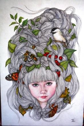 A painting by Chiharu Roach. (Karim Shamsi-Basha / Alabama NewsCenter)
